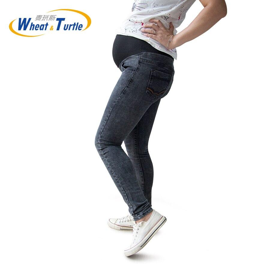Горячая Распродажа, хорошее качество, хлопок, деним, регулируемые джинсы для беременных, все сезоны, подходящие джинсы для беременных женщи...