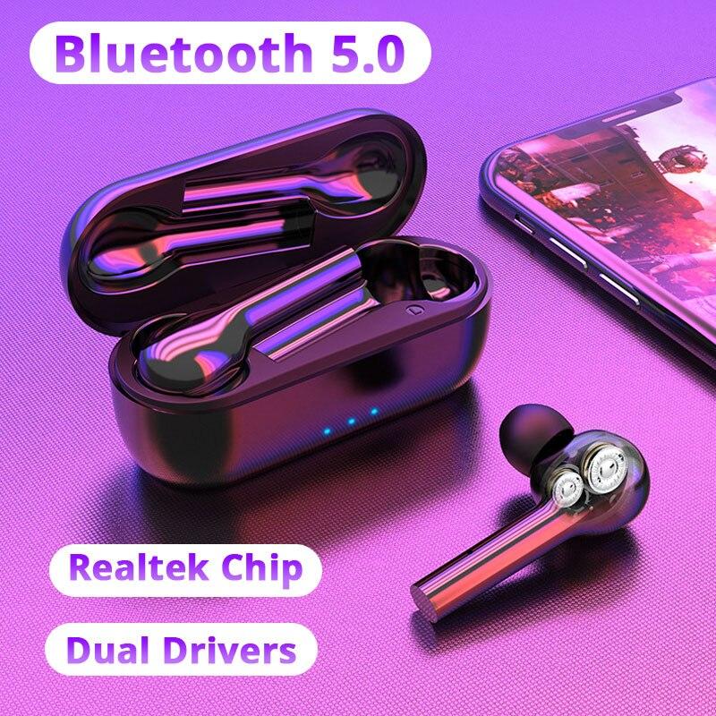 TWS Pro auriculares inalámbricos con doble controlador Bluetooth, auriculares inalámbricos para Xiaomi 9S Redmi Note 8 Umidigi F2