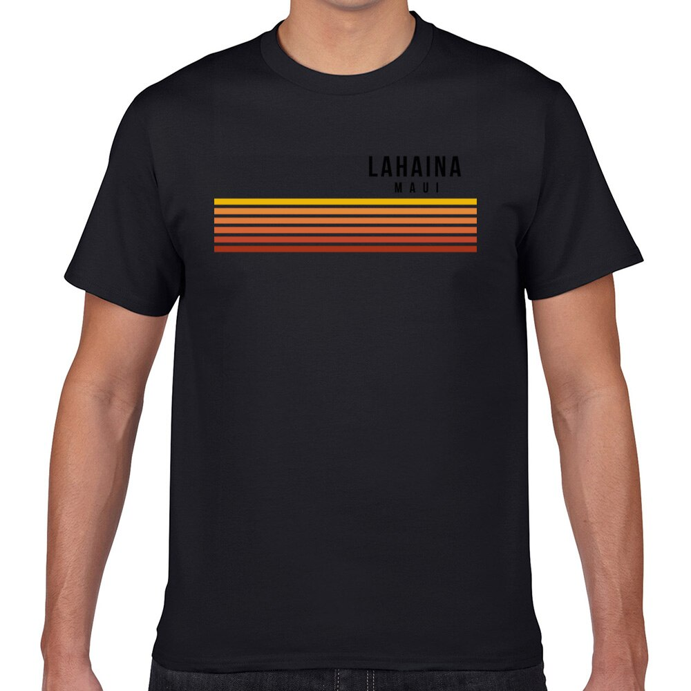 Tops camiseta vintage para hombre lahaina maui hawaii cool Hawaiano islas divertidas Harajuku Geek camiseta personalizada para hombre XXXL
