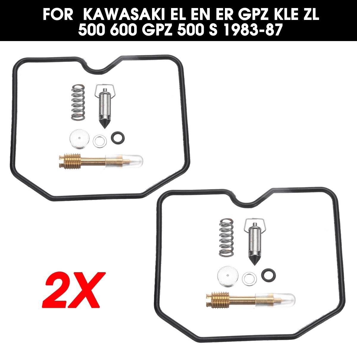 Autoleader 2x Motorcycle Carburetor Rebuild Kits Repair Change Tools For Kawasaki EL EN ER GPZ KLE ZL 500 600 GPZ 500 S 1983-87