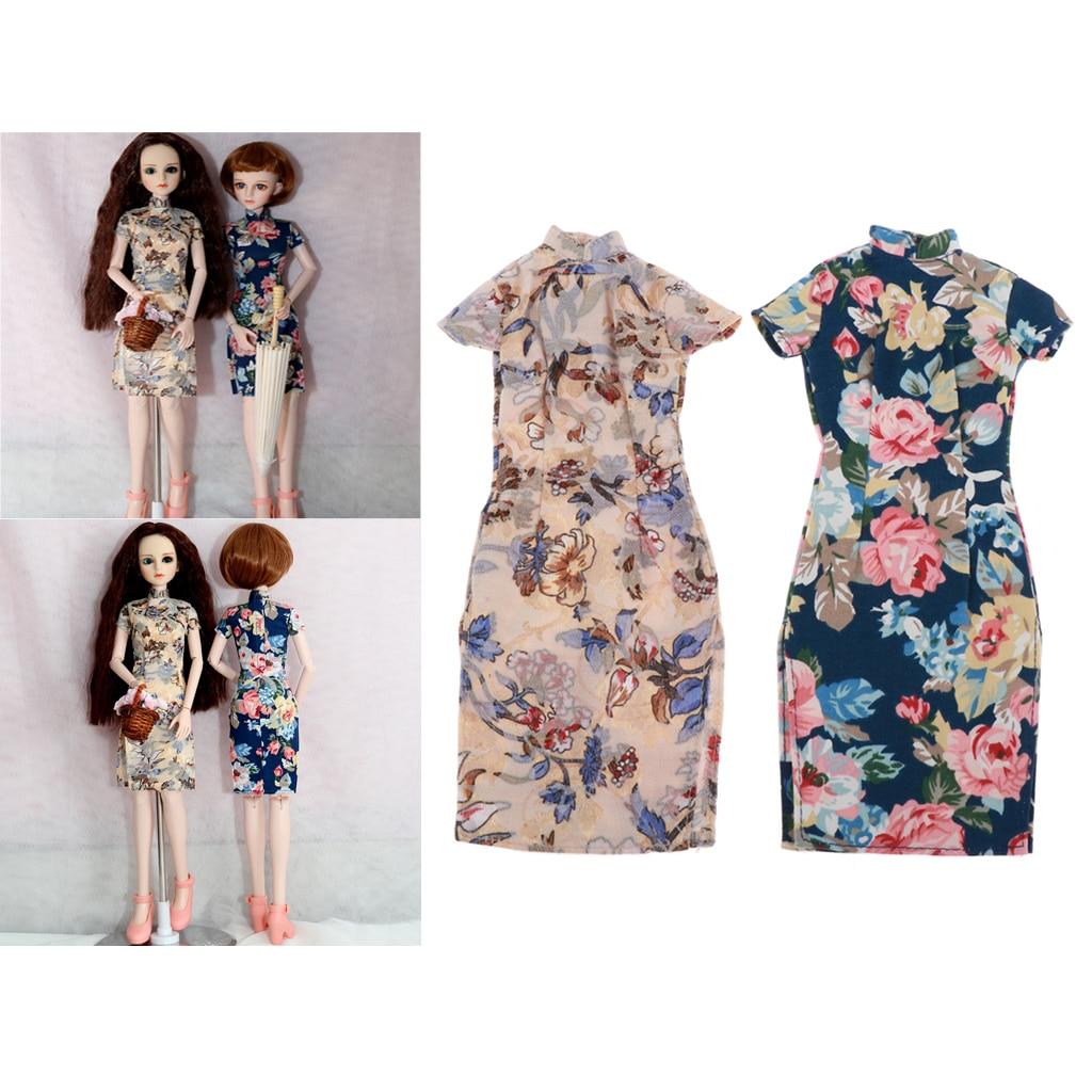 Vestido Cheongsam chino de 1/4 ropa para muñeca BJD para MSD SD como DZ DOD Dollfie u otra muñeca articulada de bola de 45CM de tamaño Similar