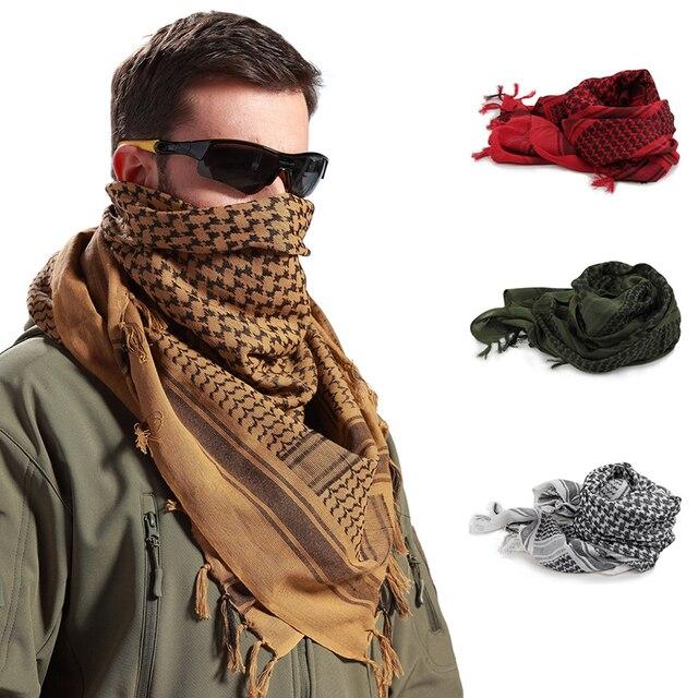 1 pcs Thick Muslim Hijab Tactical Desert Arab Scarves Men Women Winter Windy Military Windproof Hiking Scarf