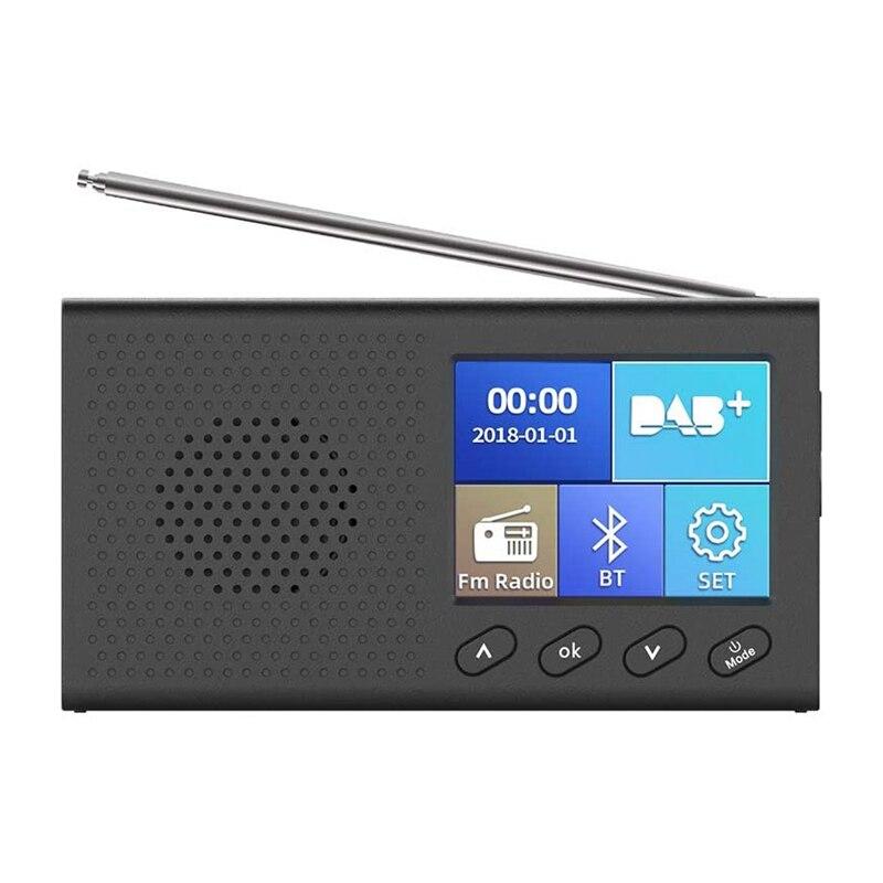 DAB Radio con Color de 2,4 pulgadas LCD Sn recargable portátil FM...