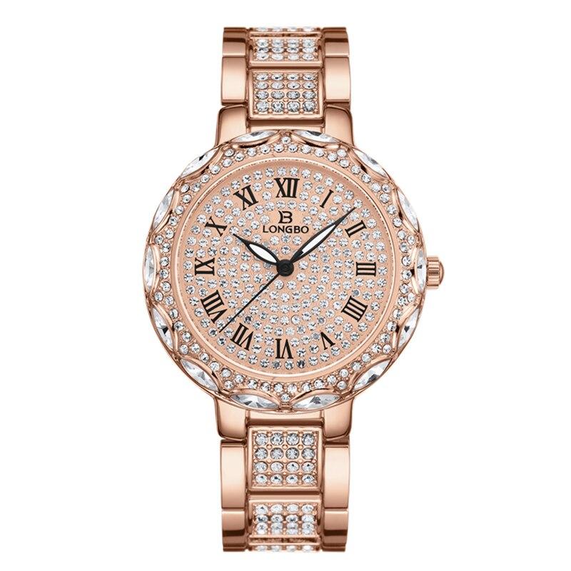 Longbo brand good quality hot selling fashion starry ladies watch quartz waterproof watch