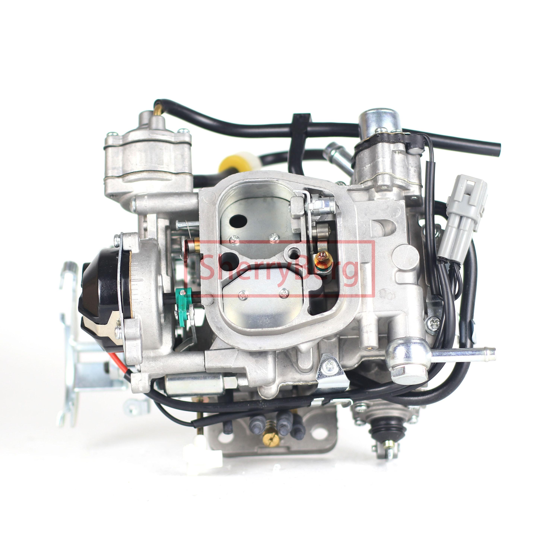 Carburettor من SherryBerg Carburador Carb لسيارات Toyota Hiace Prado Hilux موديل 21100-75120 CARBURETOR CARBY ترقية 3 RZ Carbrador Vergaser