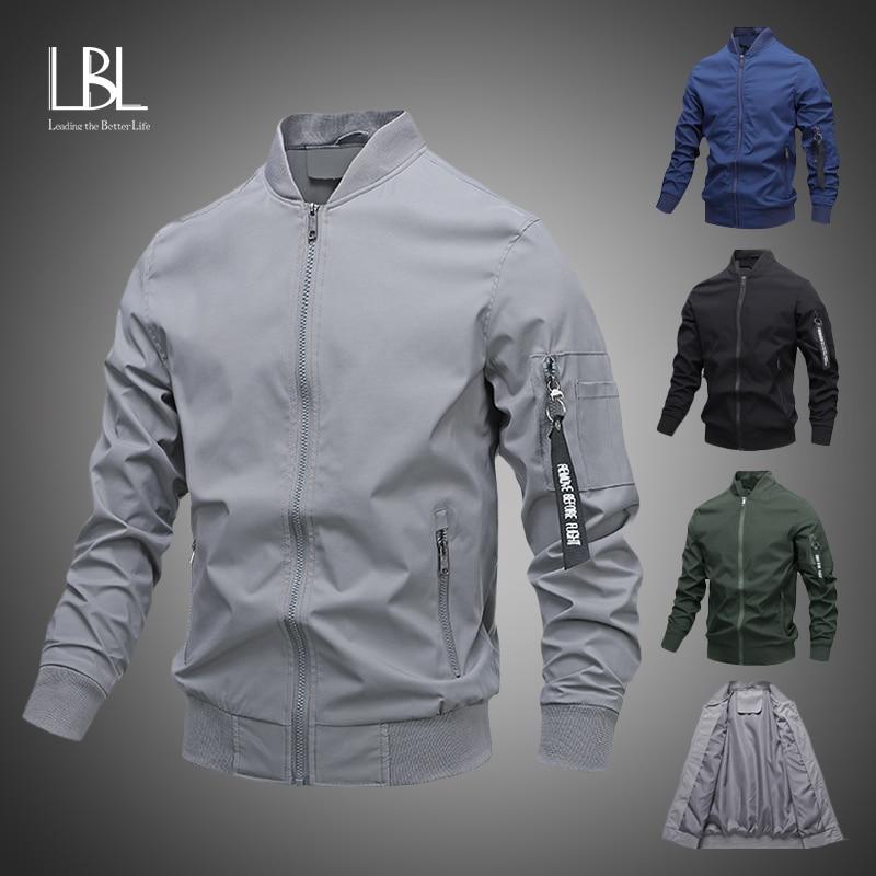 Chaquetas cortavientos para hombre, chaqueta Bomber para piloto para hombre, ropa informal estilo Hip Hop de moda 2020, abrigos con cremallera, ropa de marca