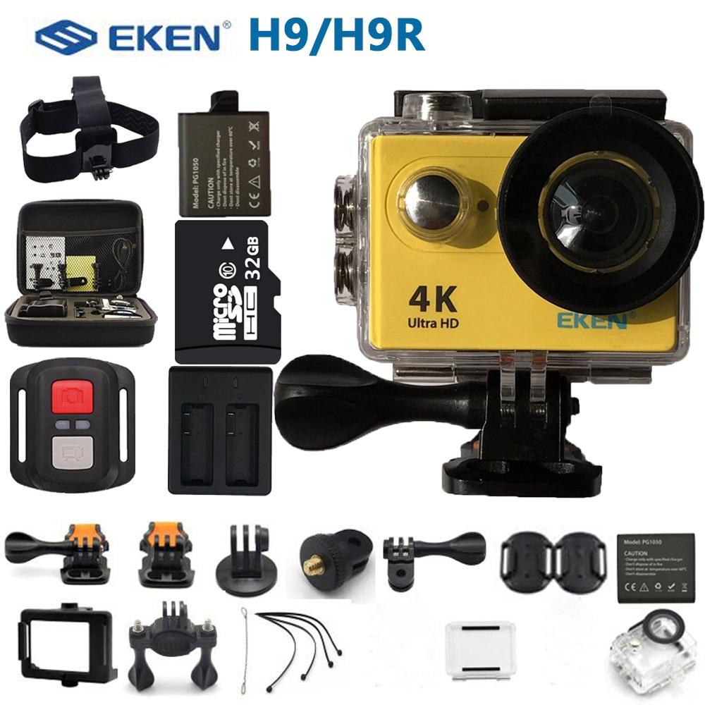 Original Eken H9R H9 アクションカメラ超 hd 4 18k スポーツビデオカメラリモート wifi ミニヘルメットエクストリームプロカム 2.0