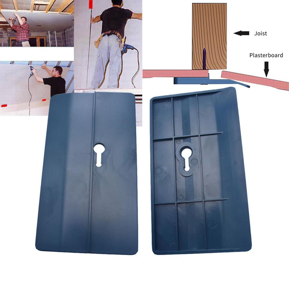 Herramienta de fijación para placas de colocación en techo, 2 uds., herramienta de yeso para decoración de paredes con ranuras para techo de habitación, herramienta de carpintero, herramienta de ajuste para paneles de yeso
