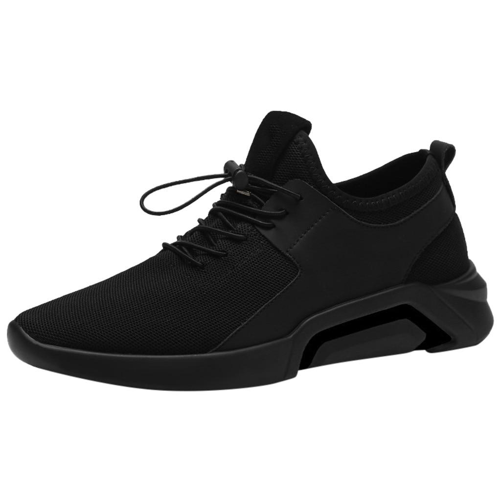 2019 men's super fire casual shoes comfortable breathable shoes solid color simple sports shoes lace-up shoes#15