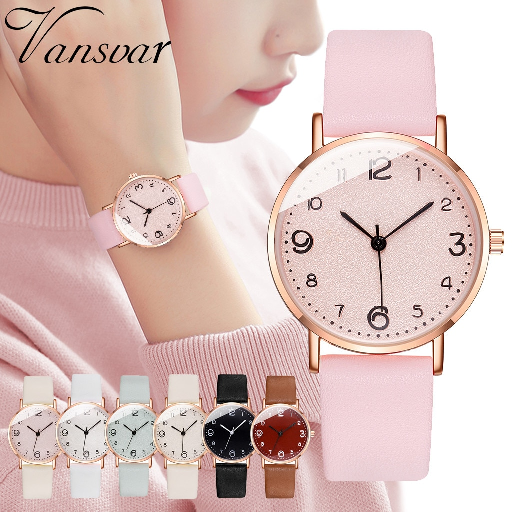 Watch Women Casual Quartz Leather Band New Strap WristWatch Small Dial Saat Reloj Mujer Relogio Feminino drop ship 30H