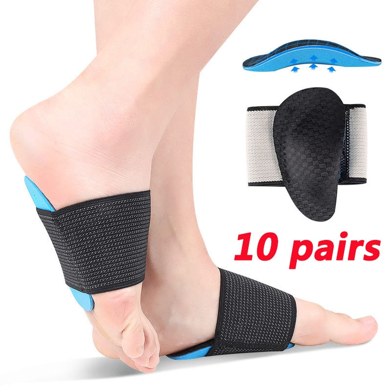 20 pcs Arch Pad Support Insoles for Flat Foot Correction High Arch Cushioning Plantar Fasciitis Pain Relief Orthopedic Insole