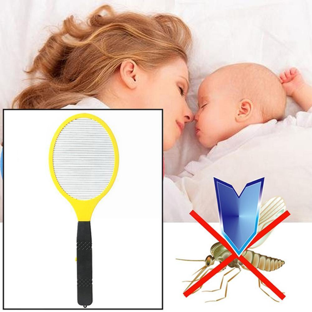 Bug Zapper Mosquito Cordless Battery Power Electric Swatter Stun Bug Killer Insects Racket Fly Mosquito Zapper Useful S1i2