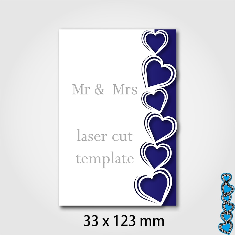 Cutting Dies Invitation Template or Cards Heart  DIY Scrap Booking Photo Album Embossing Paper Cards 33*123mm