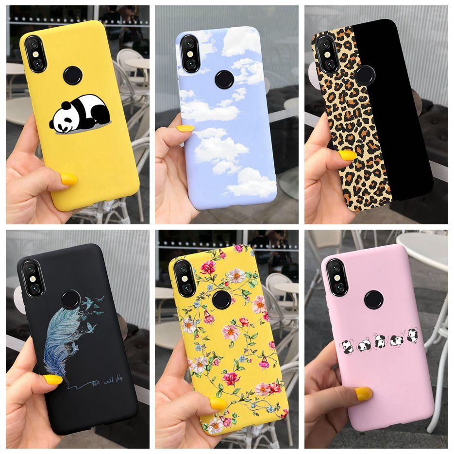 For Xiaomi Mi 8 Pro Case Mi8 Lite Soft Silicone Cute Cartoon Candy Painted Cover For Xiaomi Mi 8 Lit