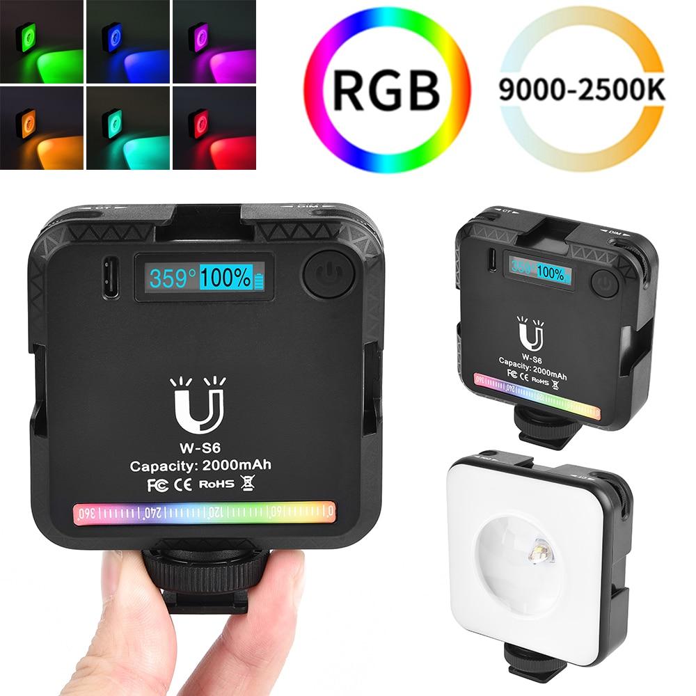 Светодиодная мини-лампа Rgb для фотосъемки, профессиональная перезаряжаемая лампа для фотосъемки и видео, 2500-9000K