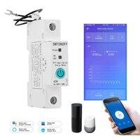 Compteur de consommation denergie intelligent  WiFi  monophase  mesures en kWh et Watt  fonctionne avec Alexa google  pour maison intelligente