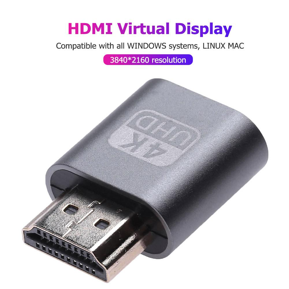 Virtuelle HDMI Dummy Adapter 1,4 DDC EDID Display Emulator für Miner 1920*1080 Stecker Riser Kabel Bergbau Bergmann