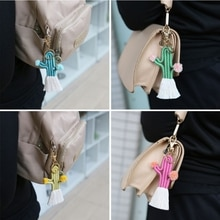 Cactus Shape Key Chain Handbag Decorations Pendant Gift for friends Women Girls M4YB