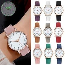 Fashion Wrist Watch For Students Luminous Watch Leather Strap Colorful Simple Designer Quartz Watch