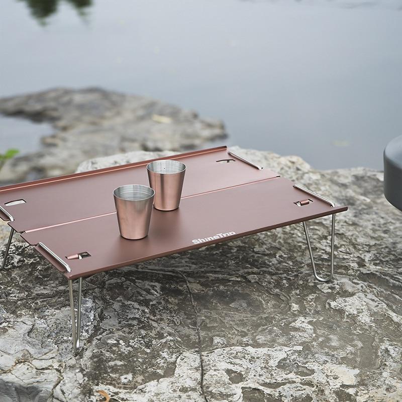 Mesa de Camping portátil para exteriores,aleación de aluminio plegable de mesa de Picnic,Mini Mesa de té ligera para escalada,escritorio de colores,equipo de viaje mesa plegable mesa camping mesa plegable portatil mesa