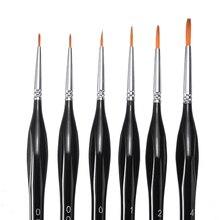 6pcs/set Quality Detail Paint Brush Micro Fine Detail Paint Brushes Nylon Hair Miniature Pen For Wat
