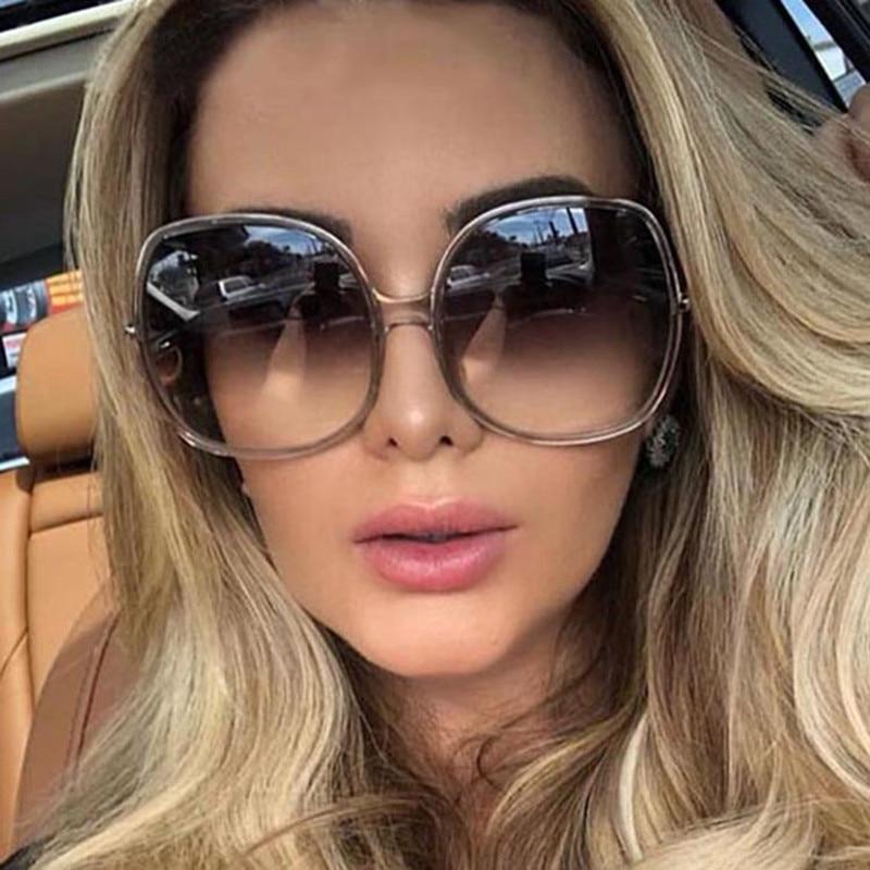 2021 New Round Sunglasses Women Oversized Ladies Fashion Plastic Outdoor Gradient Sun Glasses Femini