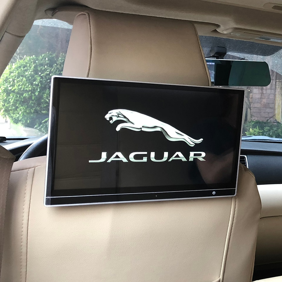 2 uds Pantalla de coche de 12,5 pulgadas Android 9,0 reposacabezas DVD HDMI Monitor para Jaguar E-PACE F-PACE tipo F s-tipo x-tipo X XF XJ XK XFL