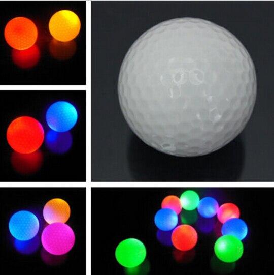 1 шт. светильник-Цвет мигающие светящиеся электронный мяч для гольфа для ночного Гольф подарок Прямая доставка