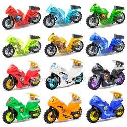 Única venda motocicleta ninja tema legal menino moc blocos de construção conjunto kits tijolos modelo brinquedos para crianças Blocos    -