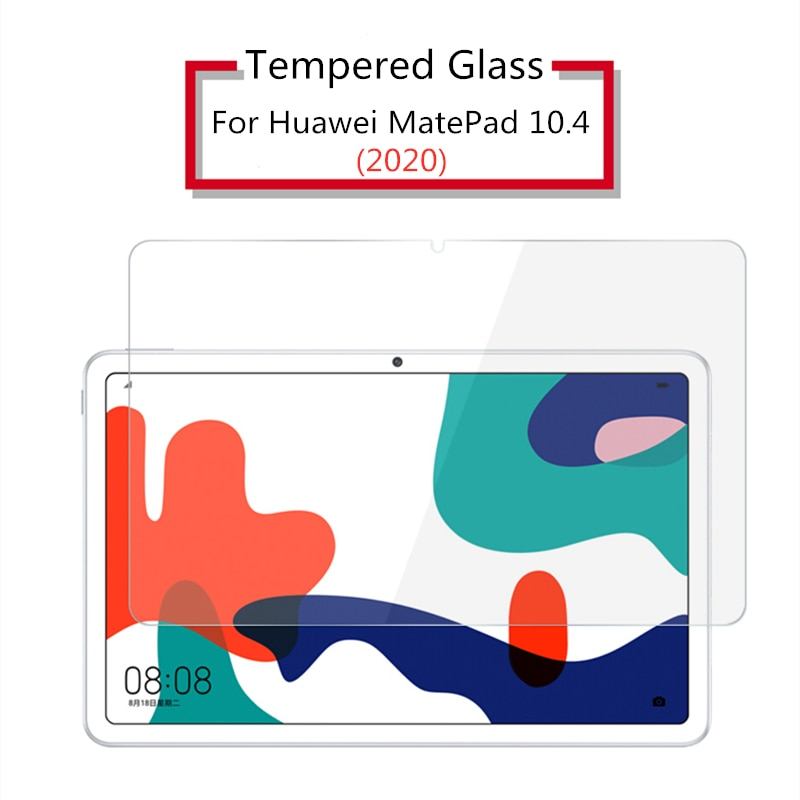 Protetor de tela de vidro temperado 9H para Huawei MatePad 10.4 2020 BAH3-W09 AL00 Filme protetor de tablet para Mate Pad Pro 10.8