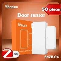 Sonoff     capteur de porte zigbee SNZB04 ewelink  1 a 50 pieces  fonctionne avec lapplication zbbridge smartthings ifttt alexa google home  nouveau