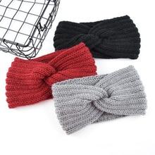 KHGDNOR Knitted Cross Hairline Fashion Warm Winter Weave Elastic Headband Women Girls Cute Braid Head Band