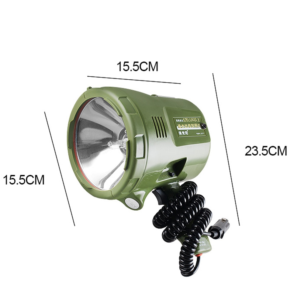 220w Marine Searchlight,160W HID spotlight,12v 100W xenon lamp,35W/55W/65w/75w portable Spotlight for car,hunting,camping,boat, enlarge