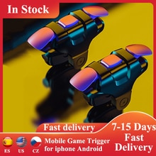 2pcs Mobile Game Trigger Shooter Controller Sensitive Phone Trigger Button Handle for iphone Android