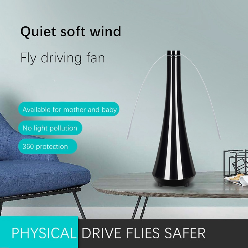 Anti Mosquito Fly Repellent Fan Bugs Pest Control Long Fan Blades Fly Trap Mosquitoes Insect Killer USB Desk Fan Food Protector