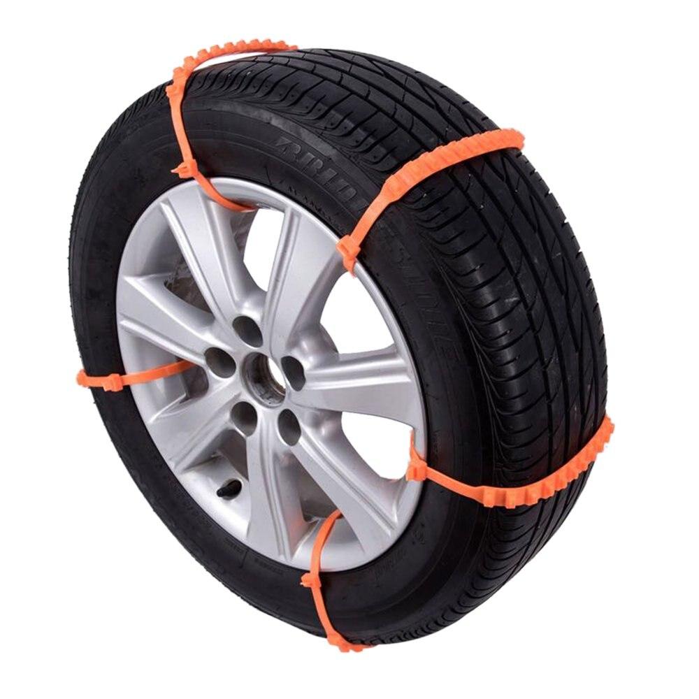 10 unids/set diseño antideslizante Universal para coche, SUV, neumáticos de plástico para invierno, ruedas, cadenas de nieve, cadenas de nieve durables para coches