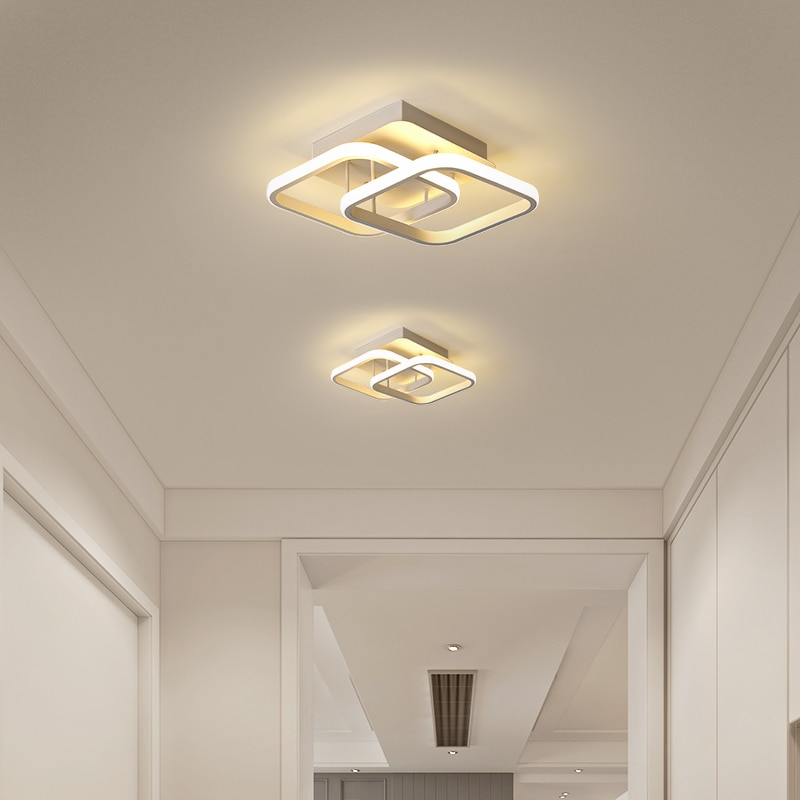 FANPINFANDO-ثريا LED أكريليك ، 110 فولت/220 فولت ، تصميم حديث ، إضاءة سقف زخرفية ، مثالية للممر أو الشرفة أو غرفة النوم.