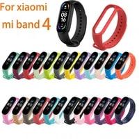 replacement bracelet silicone wrist strap for xiaomi mi band 4 12 colors sport strap watch strap accessor smart accessories