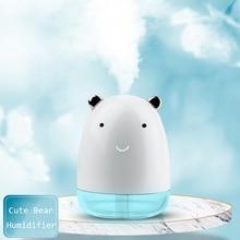 Cute Bear Humidifier USB Air Diffuser Mini Portable Aroma Essential Oil Diffuser Desktop Aromatherapy Mist Maker Air Purifier