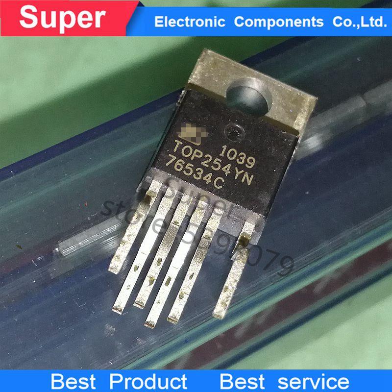 10 unids/lote TOP254YN TOP254 TOP252YN TOP255YN TOP256YN TOP253YNTO-220 IC Transistor original nuevo
