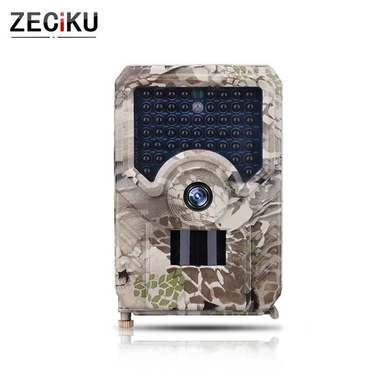 Цифровая охотничья камера с ночным видением, водонепроницаемая ловушка PR200, пробная камера, инфракрасный светодиодный 12MP камера ZECIKU