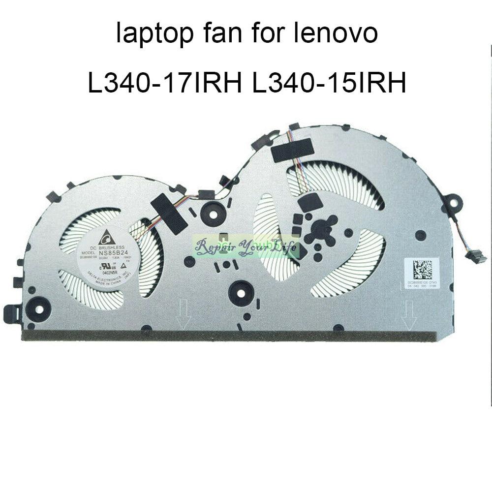 [해외] 새로운 노트북 CPU 냉각 팬 Lenovo Ideapad L340-15IRH L340-17IRH 게임 PC 쿨러 팬 DC28000E1D0