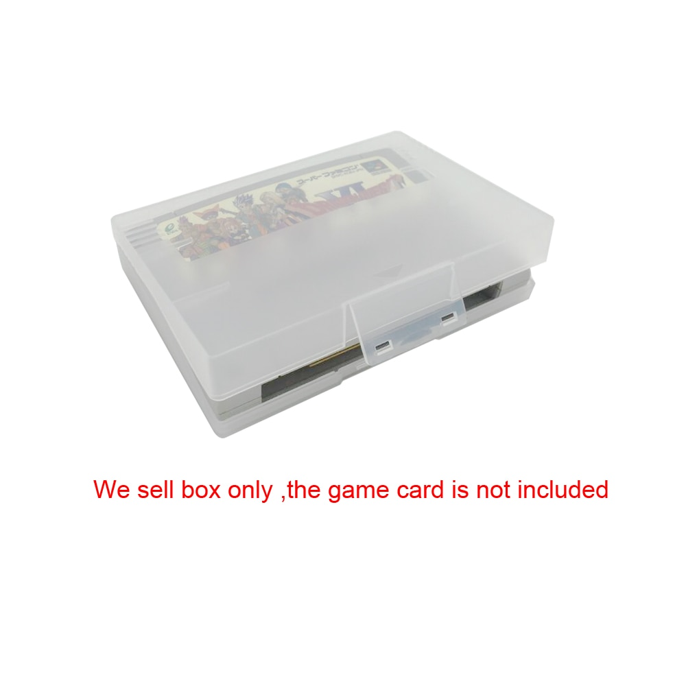 صندوق تخزين شفاف واقي لـ SNES ، صندوق شفاف لـ SNES EU/JP ، بطاقات الألعاب ، 100 قطعة