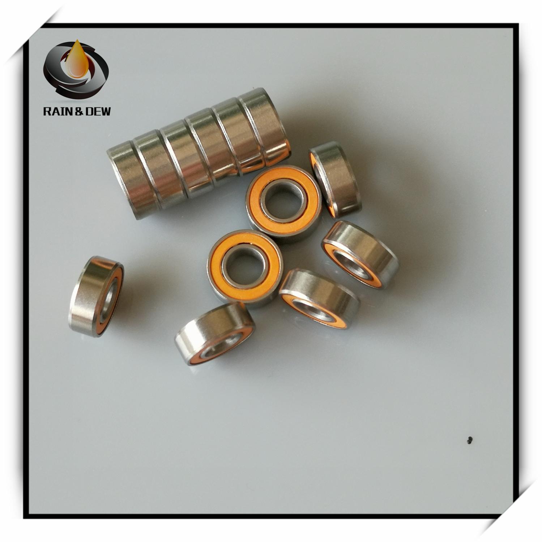 Rolamento de esferas cerâmico híbrido de aço inoxidável de 10 pces 5x11x4mm smr115 2os cb abec7 ld 5x11x4