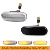 for peugeot bipper tepee citroen nemo estate van 20092019 dynamic amber led side marker indicator light car turn signal lamp
