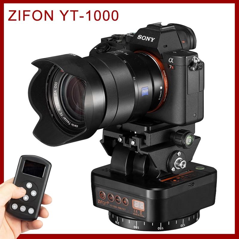 ZIFON YT-1000 ترايبود رئيس استقرار عموم إمالة بمحركات الدورية بانورامية الرأس التلقائي التحكم عن بعد للهواتف كاميرا DSLR