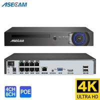 4k Ultra HD POE NVR Video Recorder Onvif H.265 48V IP Camera CCTV System P2P Network Security  Surveillance Camera