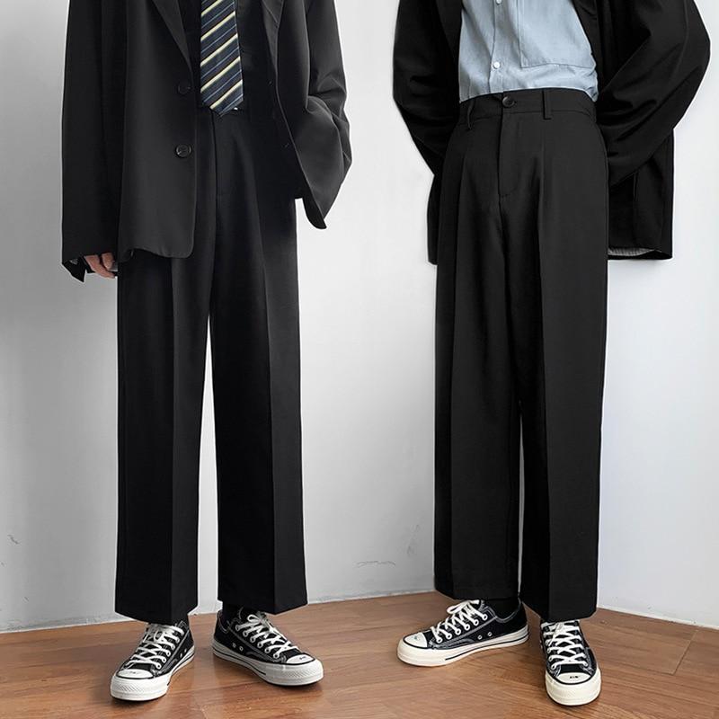 Мужские черные корейские брюки-султанки, женские джоггеры 2020, спортивные брюки в стиле Харадзюку, повседневные брюки в стиле хип-хоп