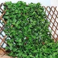 Guirlande de feuilles de vigne artificielles en soie verte  230Cm  fausse plante grimpante  decoration de jardin pour la maison  fete de mariage