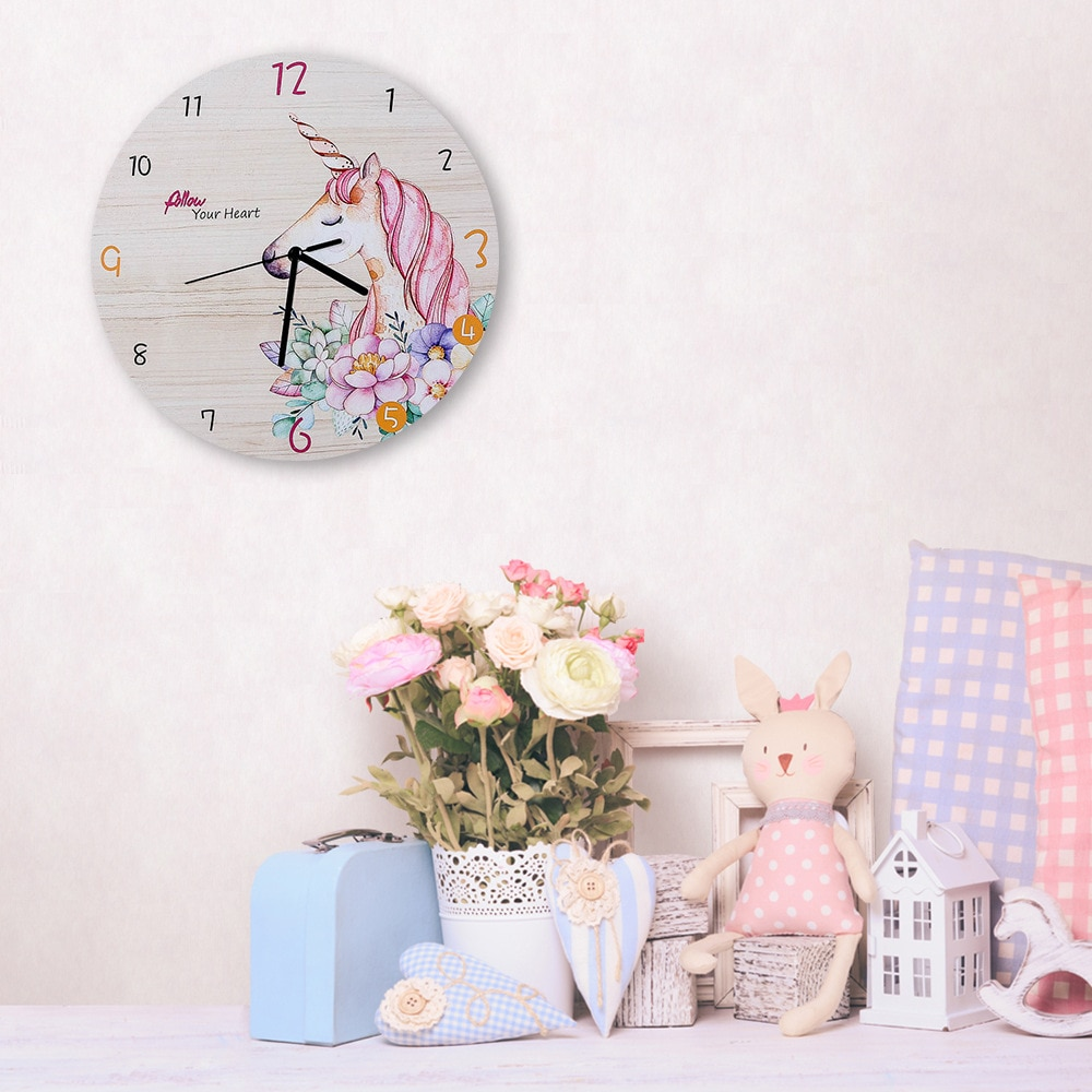 Reloj de pared moderno y Digital con diseño de unicornio, Reloj de pared 3D silencioso, decoración para el hogar y la Oficina, regalo de Navidad